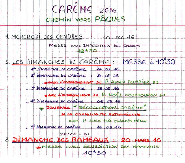 carême-2016